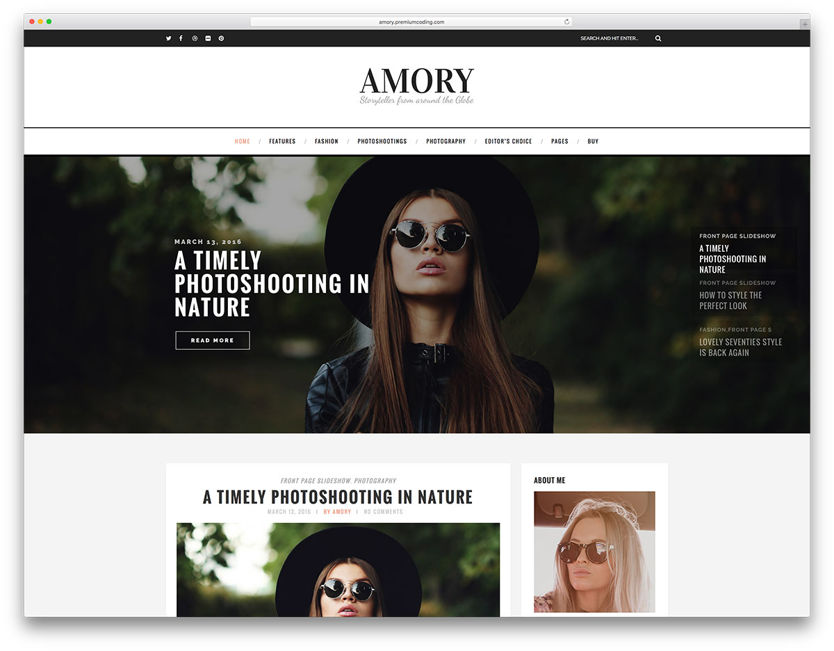 amory-minimal-fashion-blog-wordpress-website-template