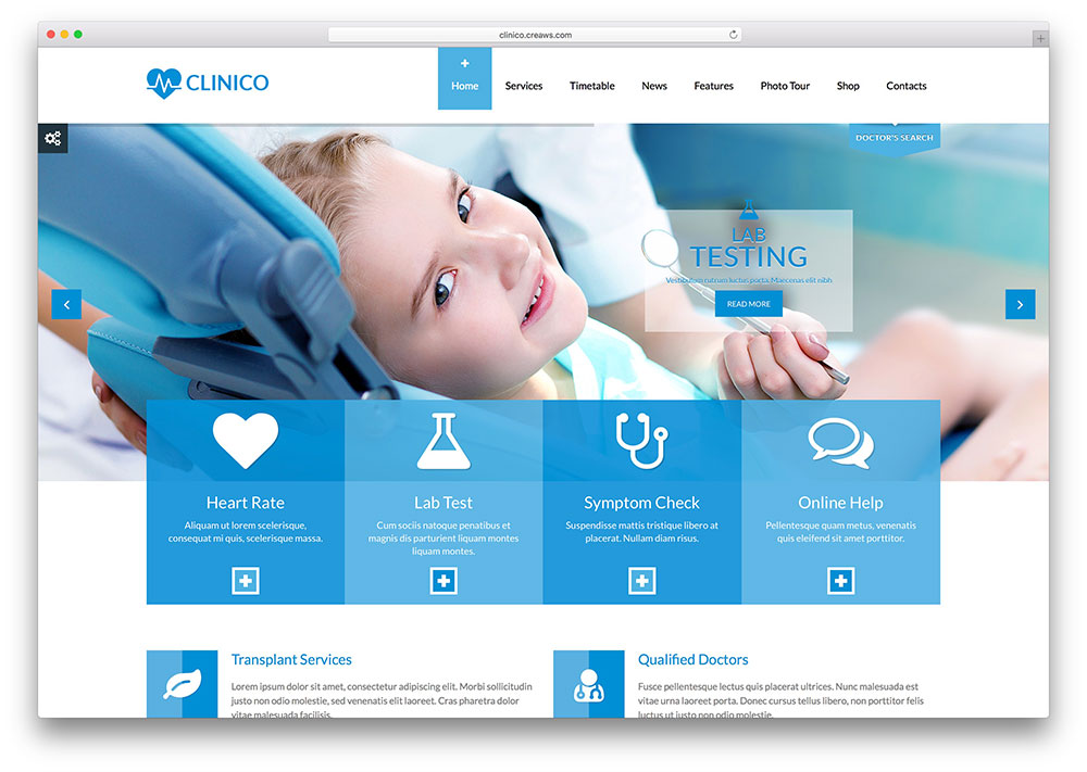 clinico-modern-dentist-wordpress-theme