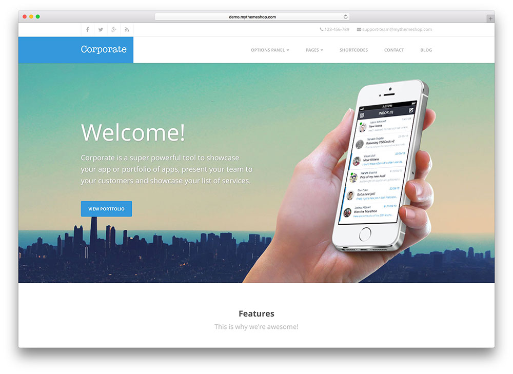 corporate - easy to use businesss theme