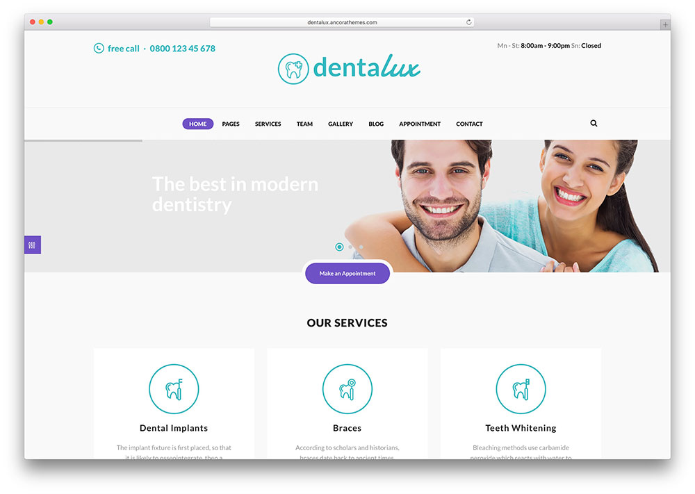 dentalux-simple-dentist-wordpress-theme
