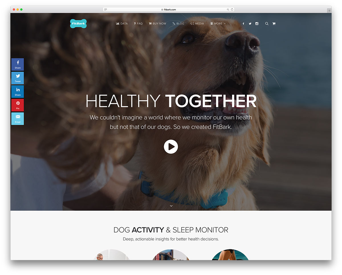 fitbark-animal-minitor-website-with-uncode