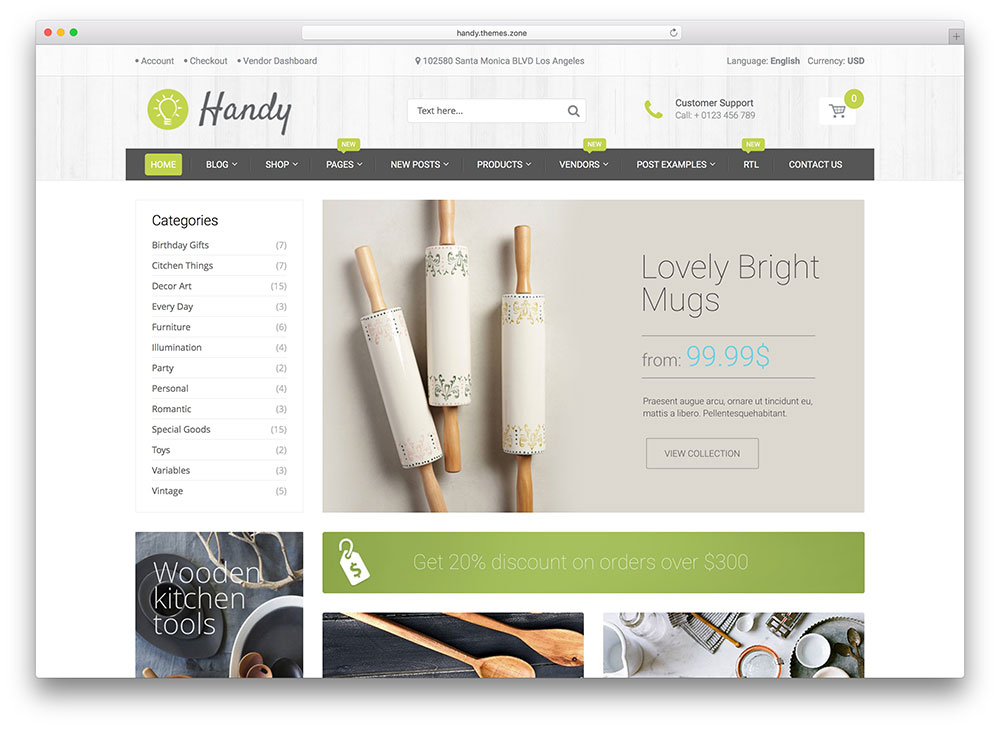 handy - green ecommerce theme