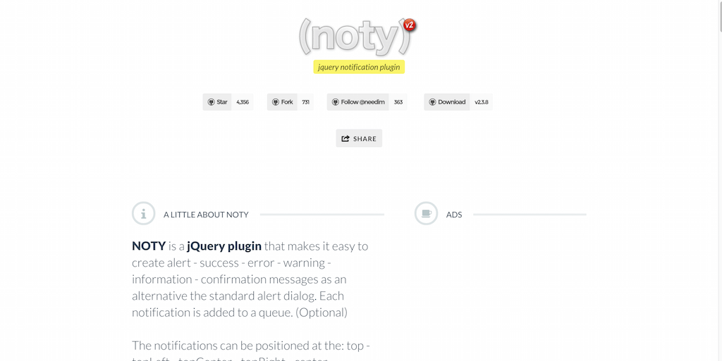 noty a jQuery Notification Plugin