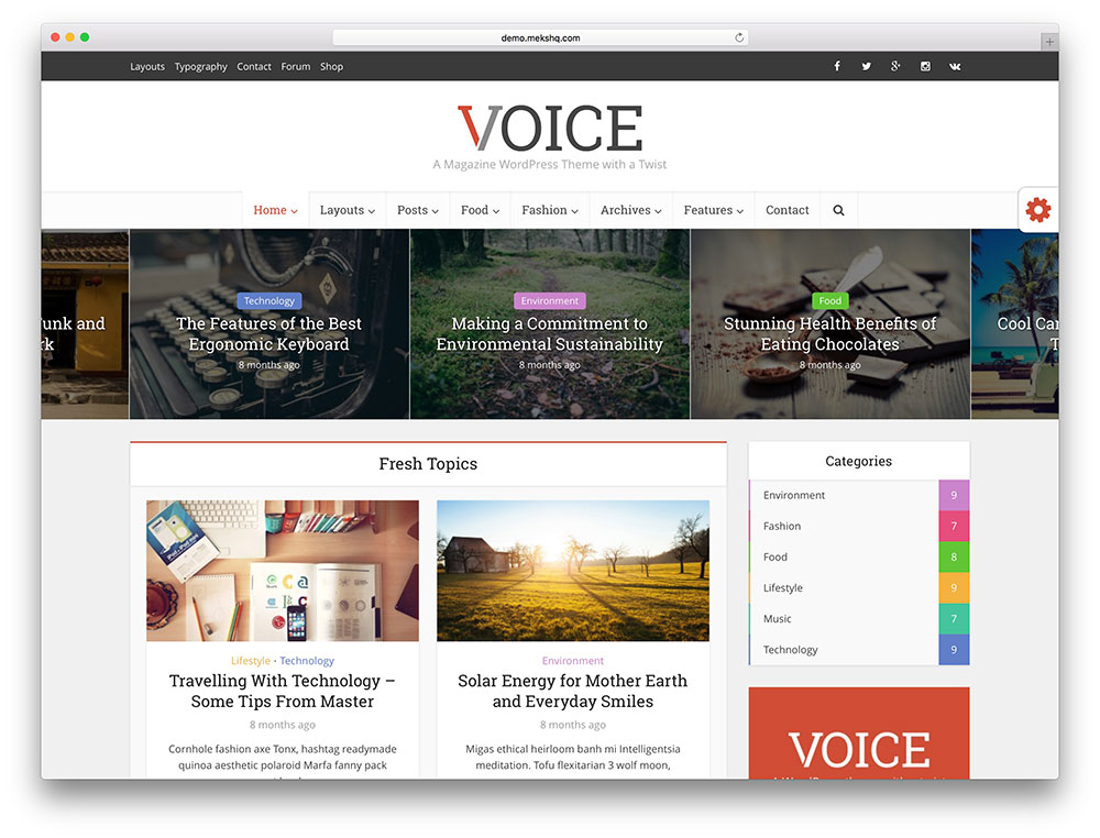 voice - product review theme