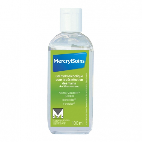 Mercryl Soin Gel Hydroalcoolique 100ml Easyparapharmacie