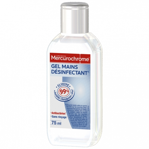 Mercurochrome Gel Antibacterien Hydroalcoolique 75ml