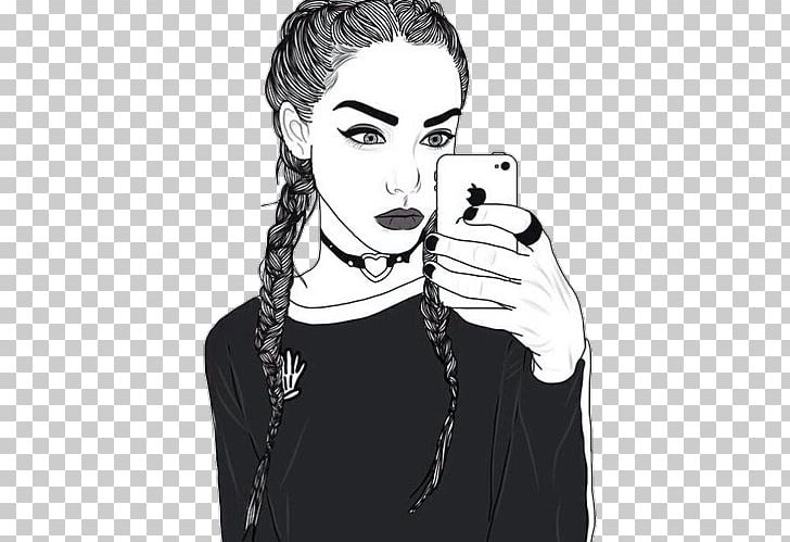 Drawing Black And White Wallpaper Girl