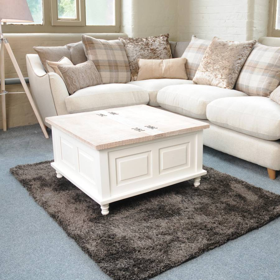 Storage Trunk Coffee Table Antique White By The Orchard