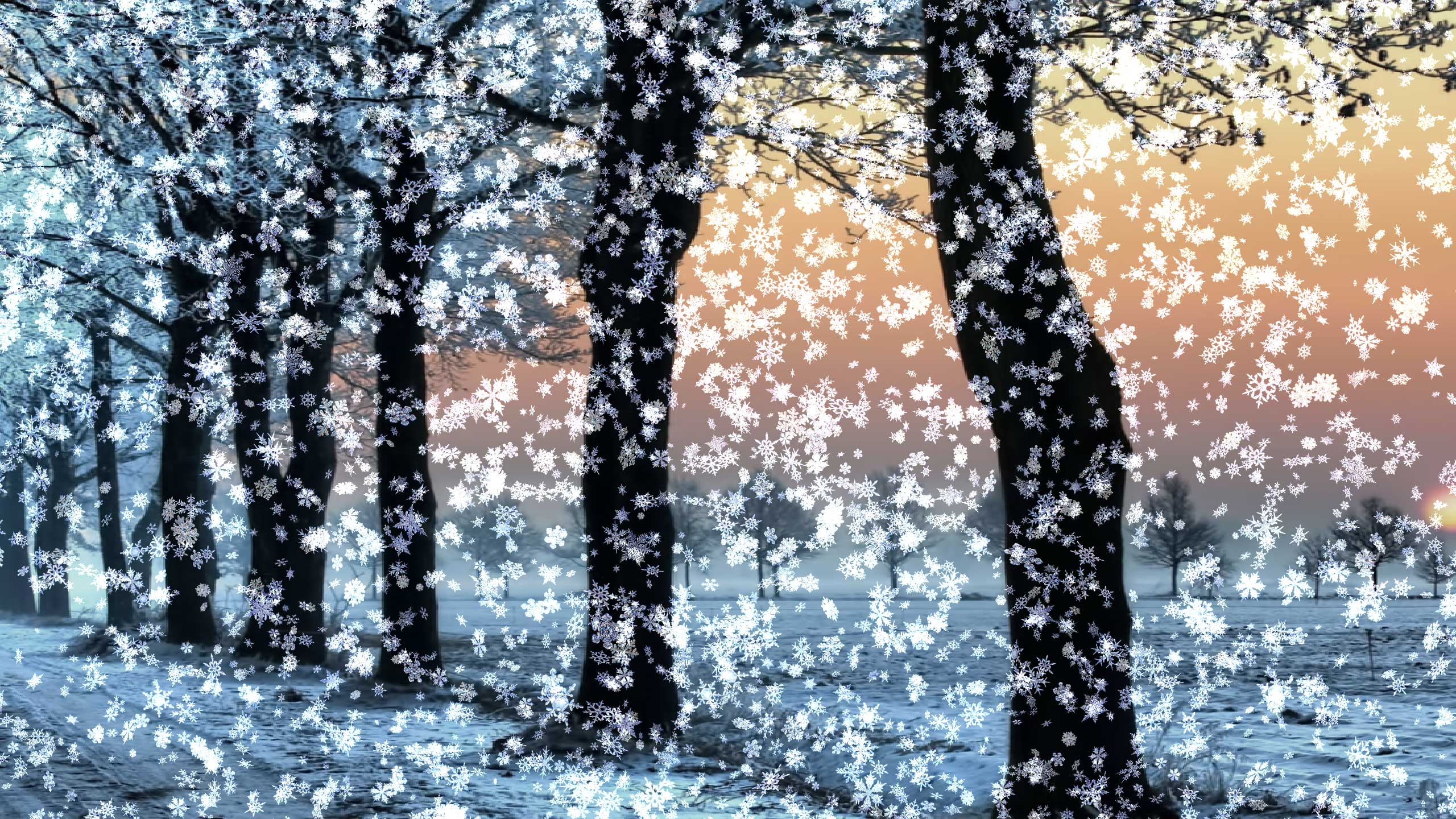 Snowy Desktop 3D Animated Background