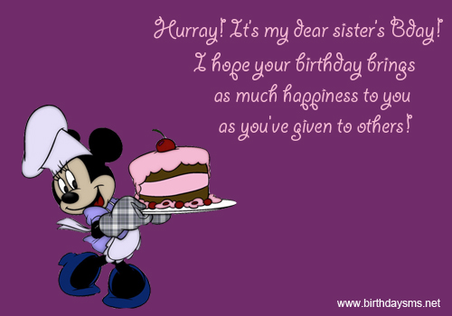 Funny Sister Birthday Quotes And Sayings Quotesgram