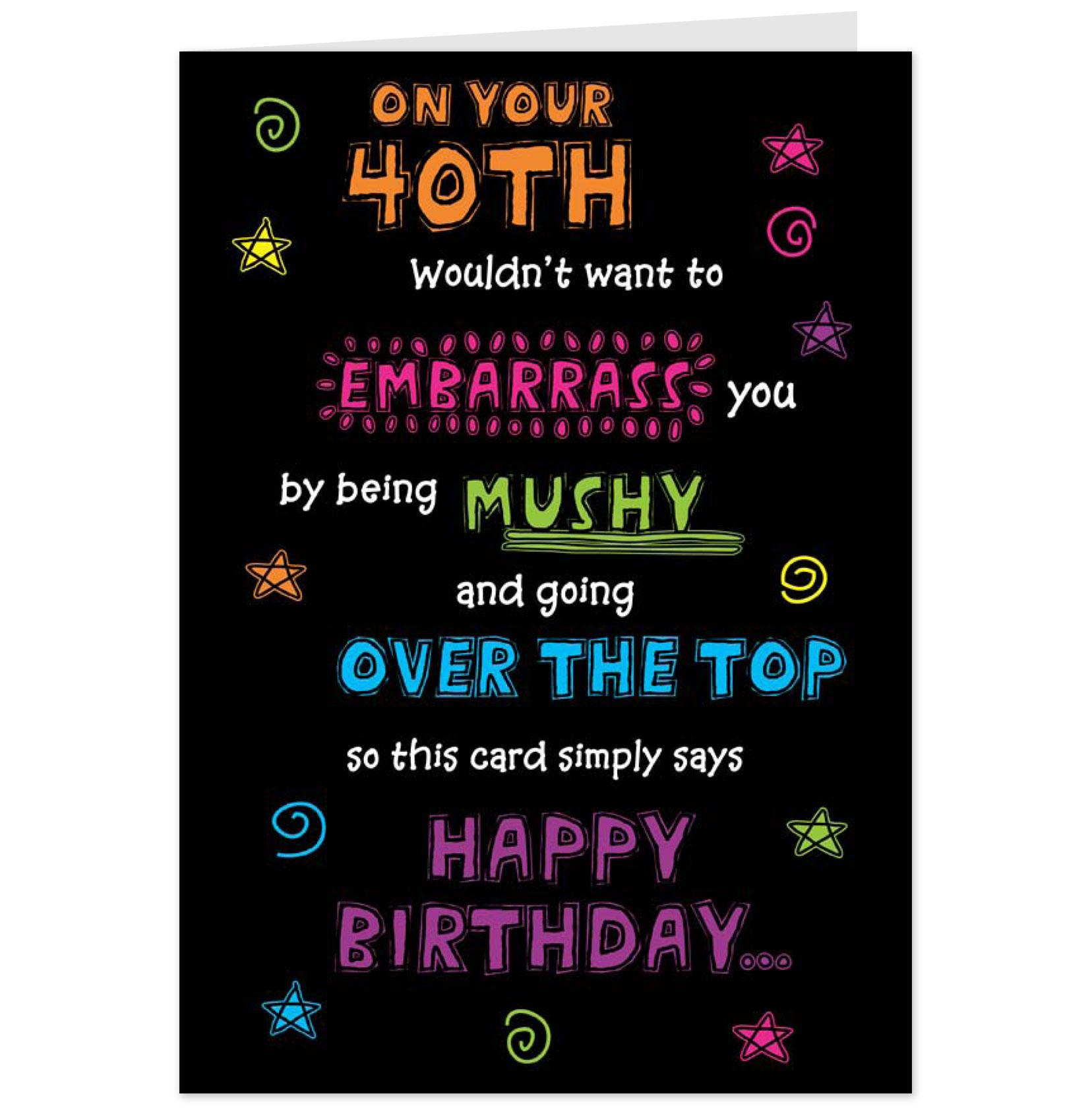Funny 40th Birthday Messages For Husband Daily Quotes