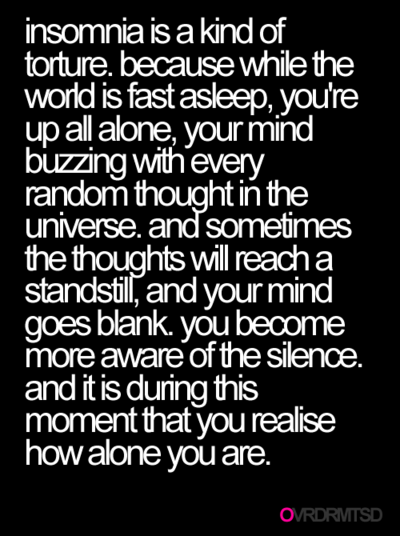 Quotes About Insomnia Sleeping Quotesgram
