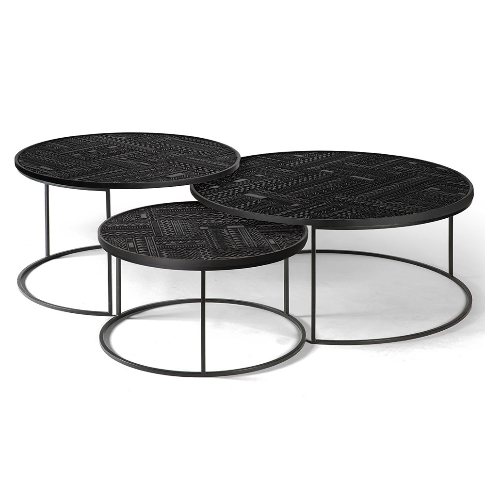 Ancestors Tabwa Round Nesting Coffee Table Set Of 3 Rouse Home