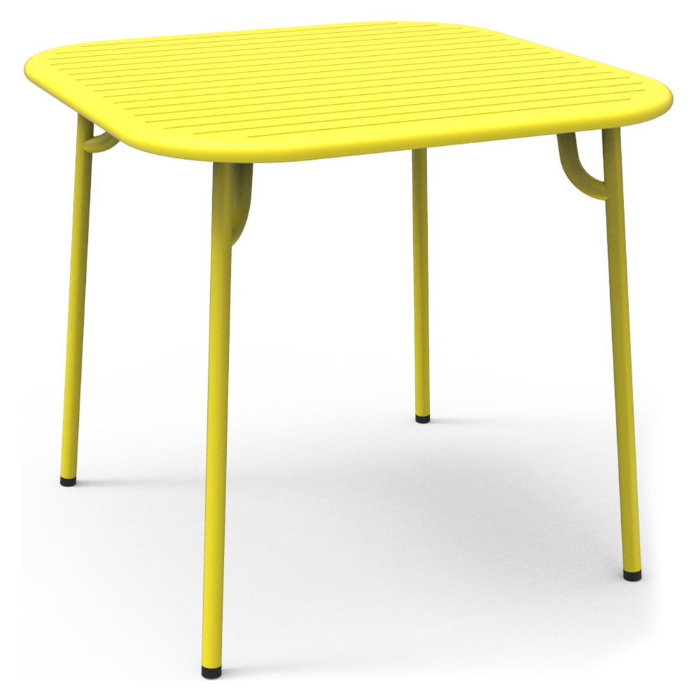 Week End Square Garden Table Yellow Rouse Home