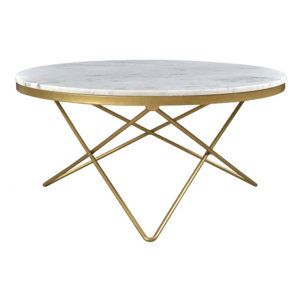 Coffee Table Haley Marble Brass Ms Homey Home Interiors