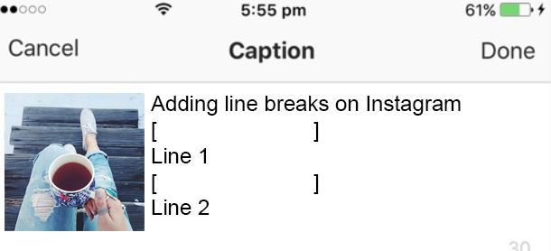 How To Enter In Instagram Caption 5