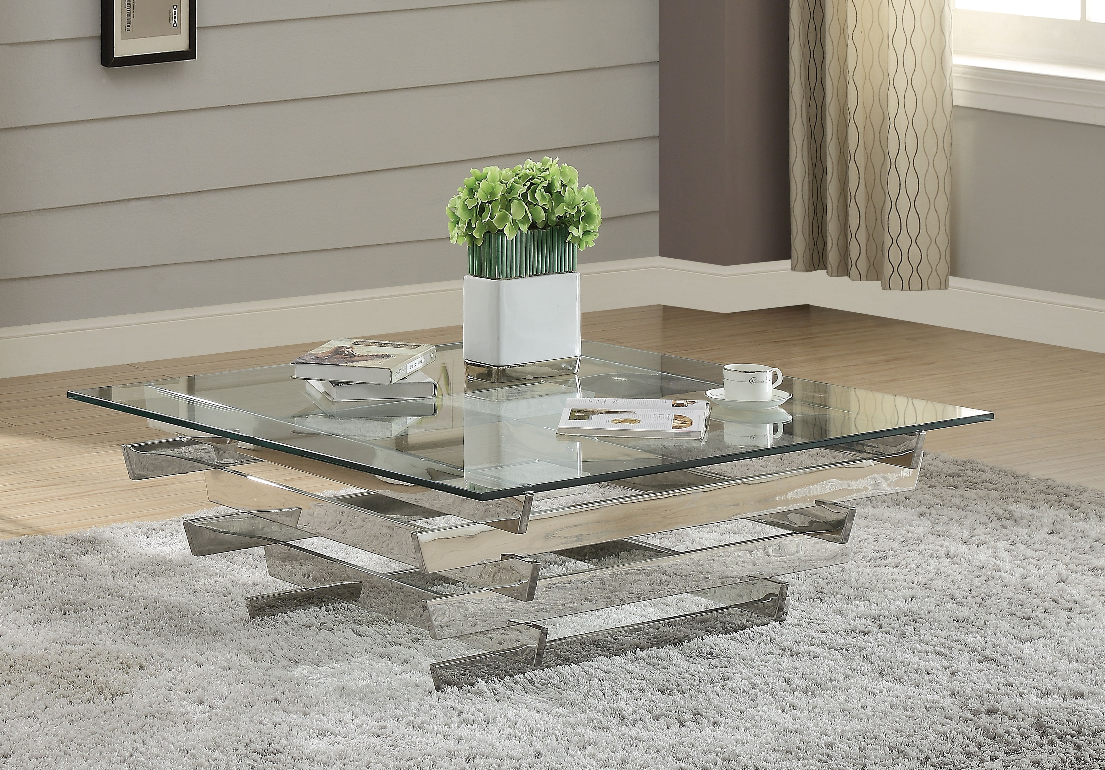 Acme Furniture Salonius Clear Coffee Table The Classy Home
