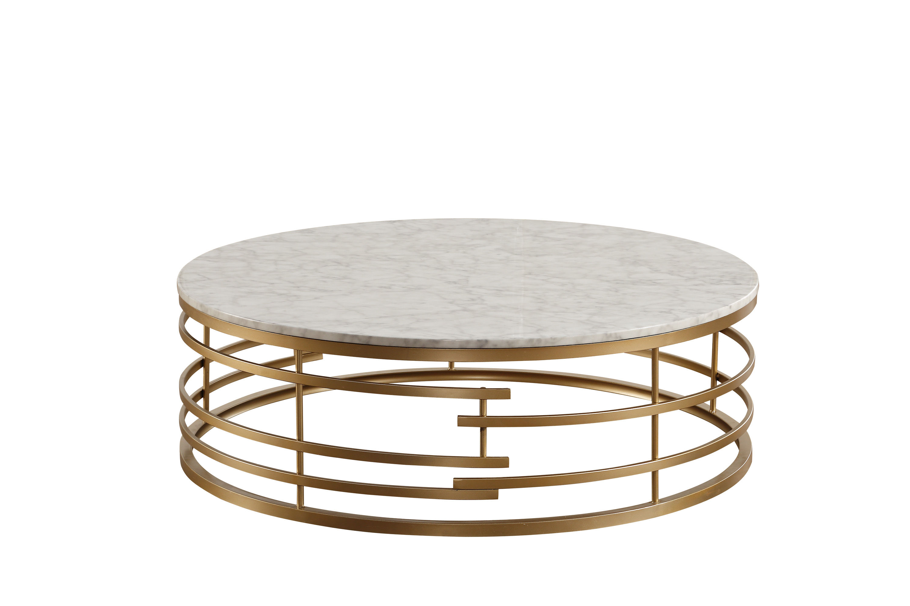 Home Elegance Brassica Gold Round Coffee Table The Classy Home