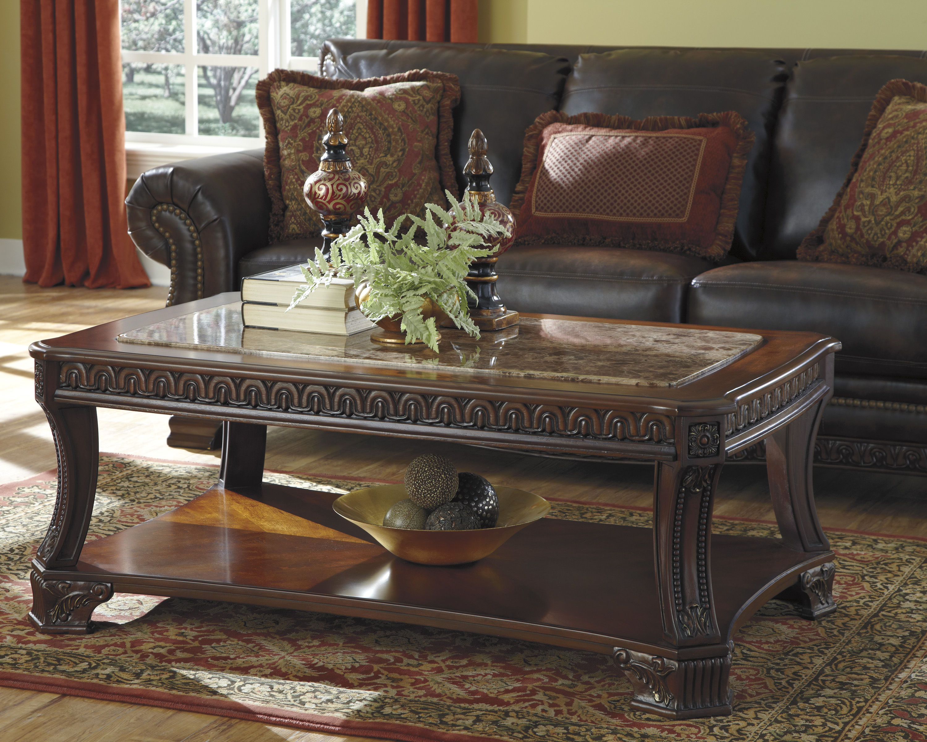 Ashley Furniture Ledelle 3pc Coffee Table Set The Classy Home