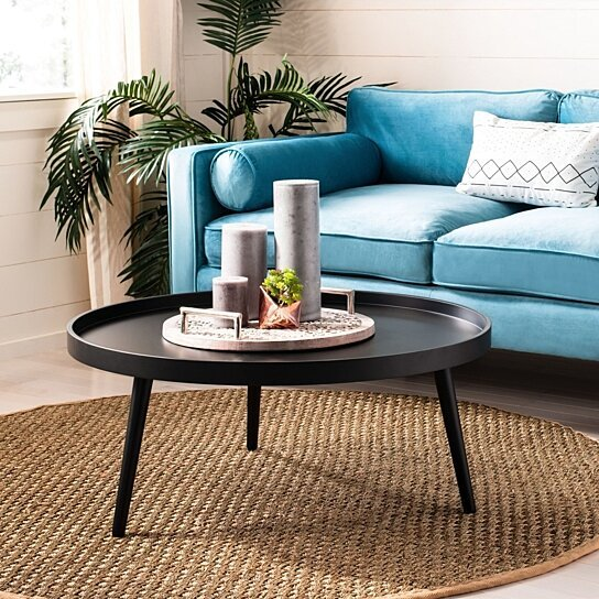 Buy Fritz Round Tray Top Coffee Table Black By Pacific Home On Opensky