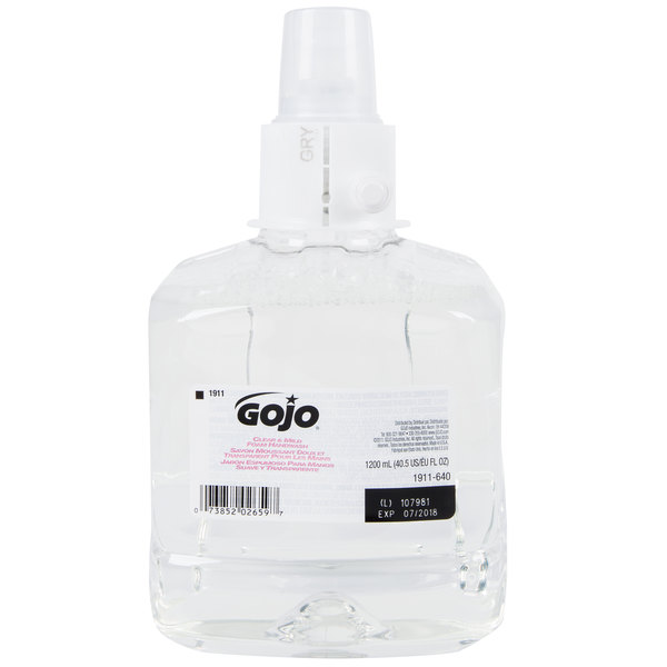Gojo 1911 02 Ltx Clear Mild 1200 Ml Fragrance Free