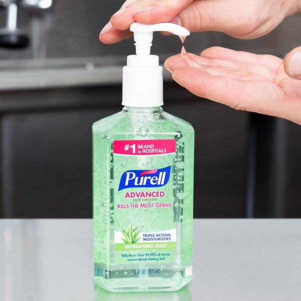 Purell 3639 12 Advanced With Aloe 12 Oz Gel Instant Hand
