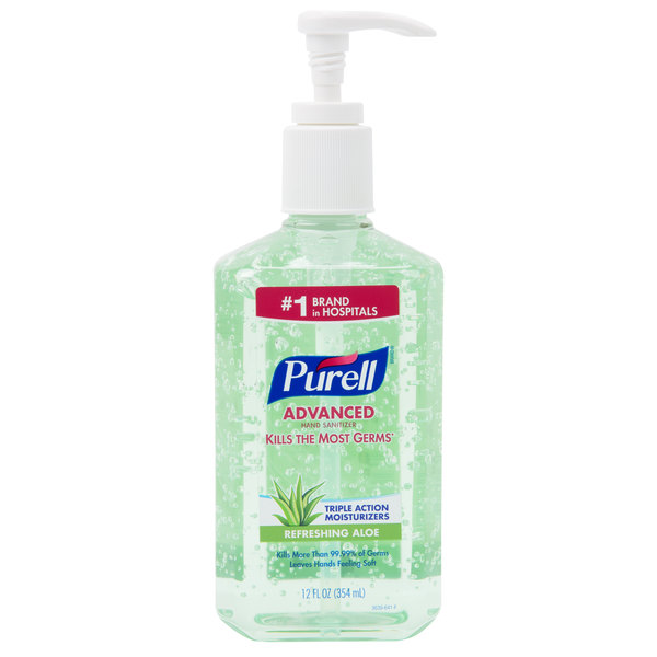 Purell 3639 12 Advanced With Aloe 12 Oz Gel Instant Hand Sanitizer