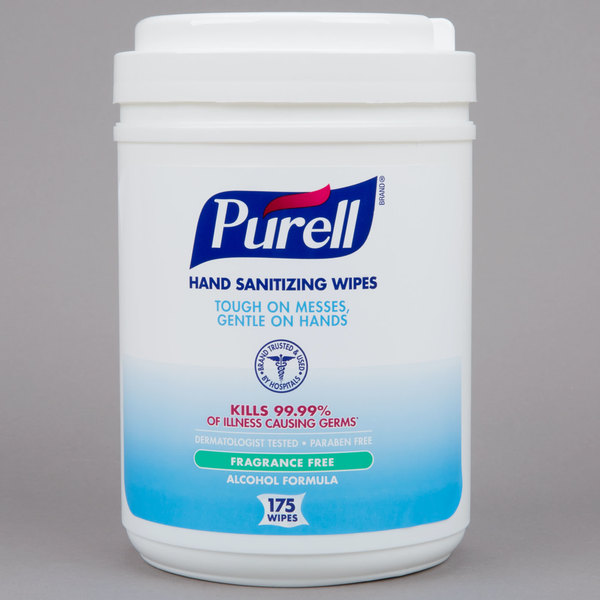 Purell 9031 06 Alcohol Formulation Sanitizing Wipes 175 Count