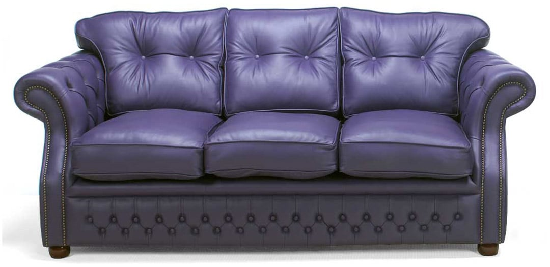 era blue leather chesterfield sofa bed