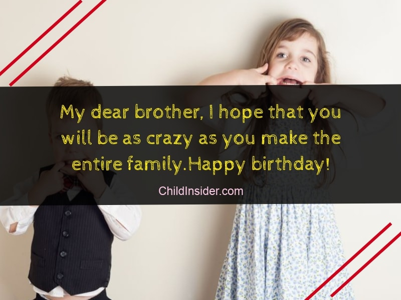 40 Funny Birthday Wishes For Younger Brother From Sister Child Insider
