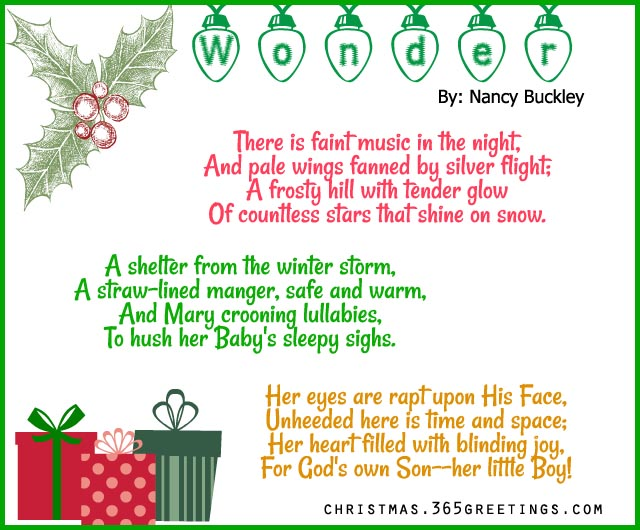 Christmas Poems For Cards 7