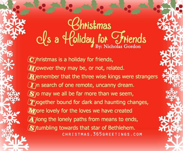 Christmas Poems For Friends 3
