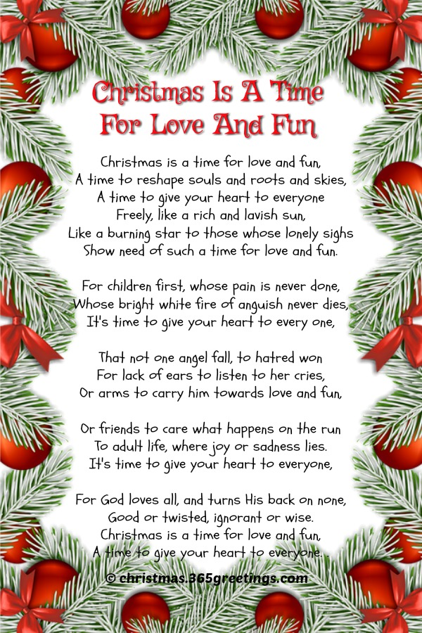 Christmas Poems About Families 1
