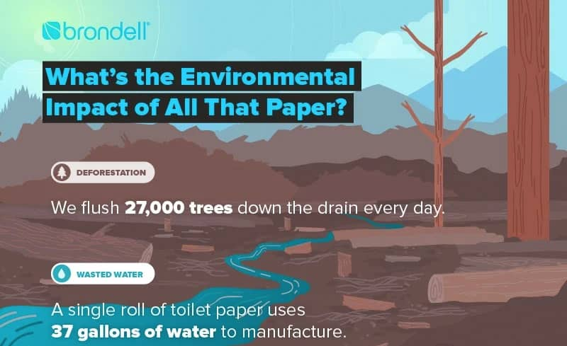 Are you aware of the damages that toilet paper is causing to our planet?