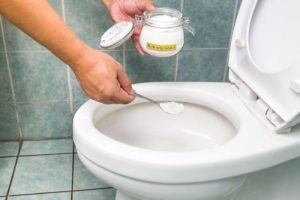 Use the mixture of vinegar and baking soda to unclog the stubborn blockage!