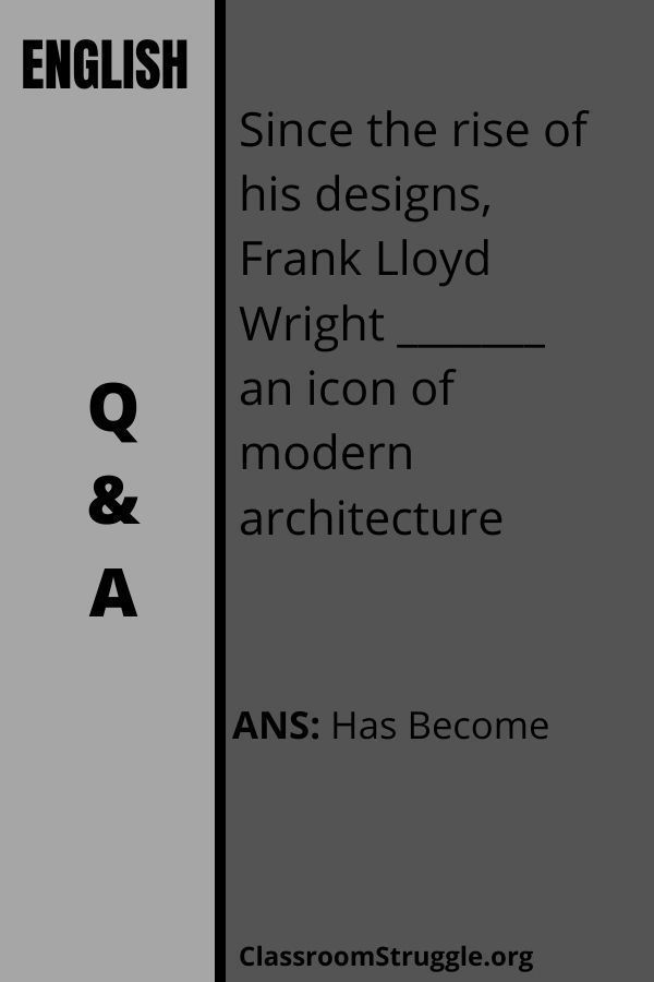 Since the rise of his designs Frank Lloyd Wright an icon of modern architecture