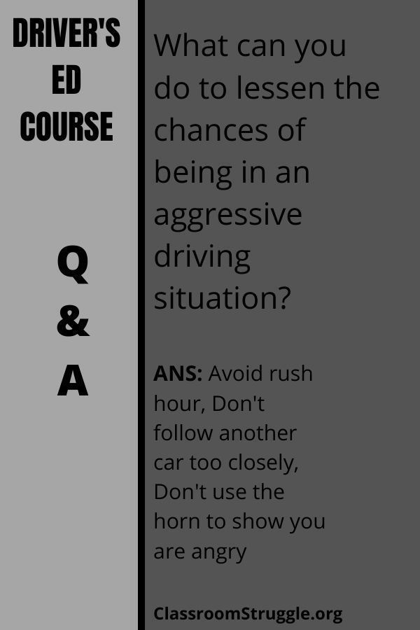 What can you do to lessen the chances of being in an aggressive driving situation?