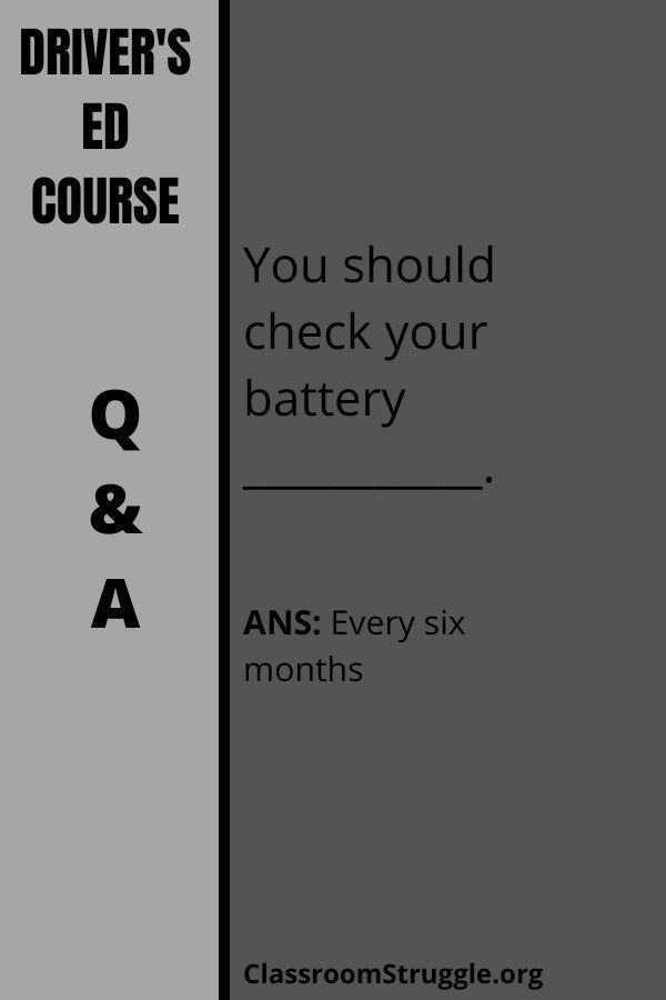 You should check your battery ___________.