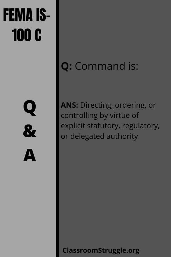 Command is:
