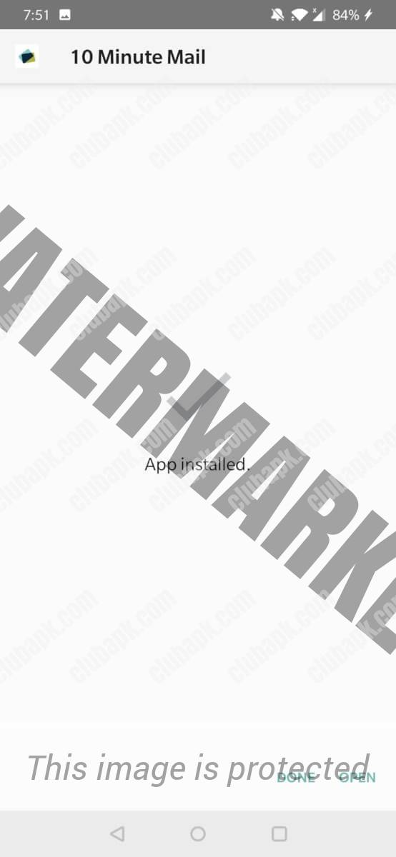 10 Minute Email installed