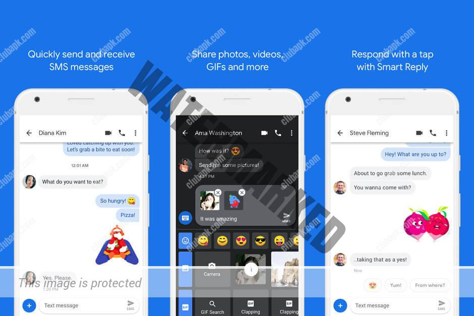 Android Messaging Service default look