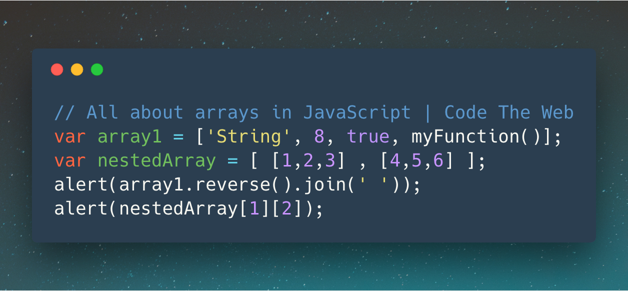 The complete guide to JavaScript arrays - Code The Web