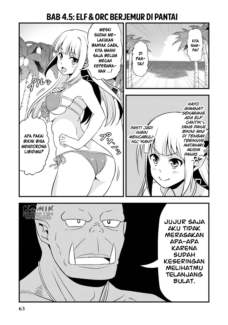 Hentai Elf to Majime Orc Chapter 9.7