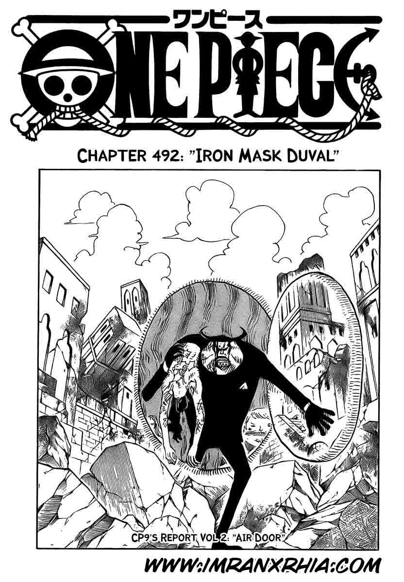 One Piece Chapter 492