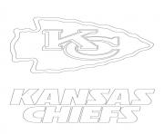 Kansas City Chiefs Logo Football Sport Coloring Pages Printable