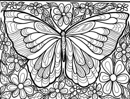 awesome butterfly coloring pages for adults