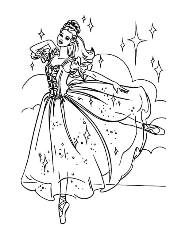 awesome coloring page ballerina printable