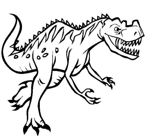 awesome coloring page dinosaur