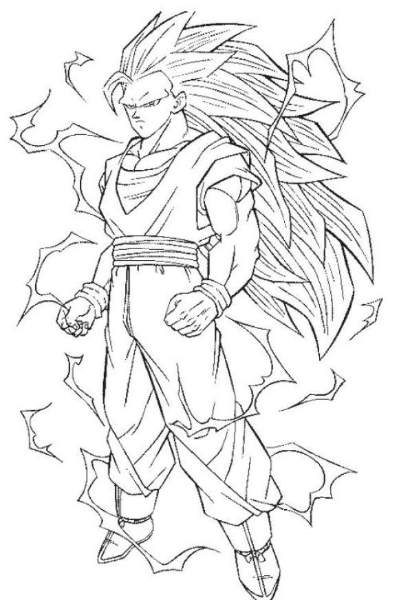 Coloring Page Dragon Ball Z Goku