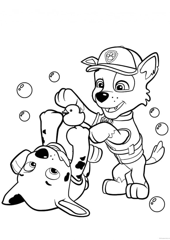 awesome coloring page paw patrol free
